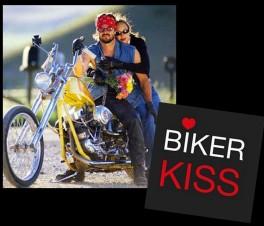 biker kiss montage